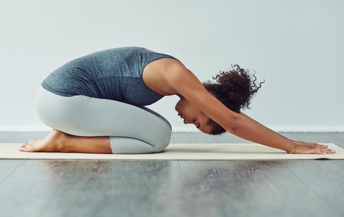 Childs pose yoga