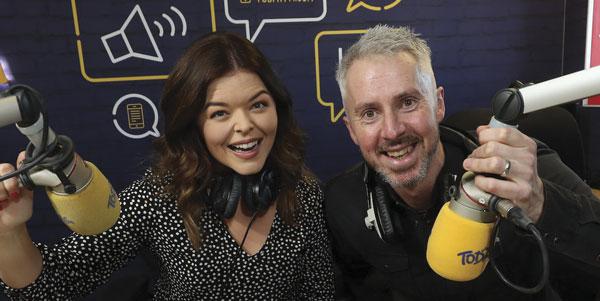 Doireann Garrihy with radio pal Declan Pierce