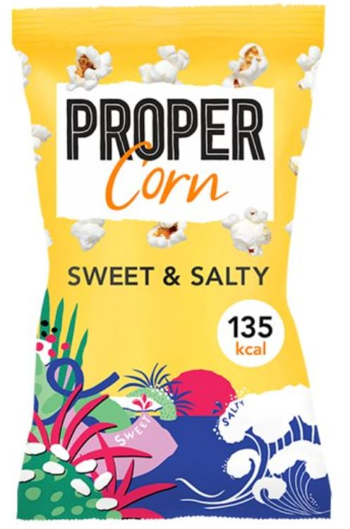 Proper corn sweet and salty