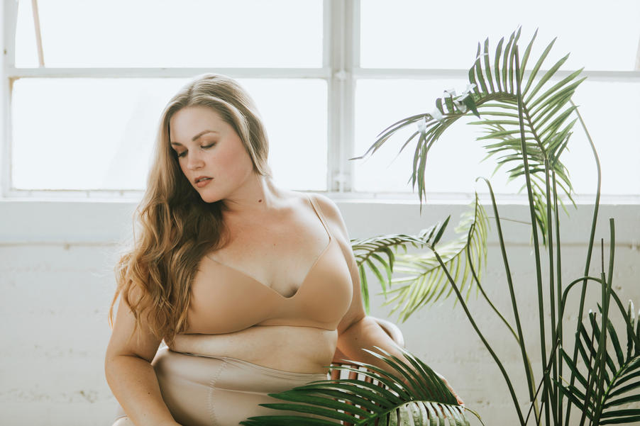 large woman on couch