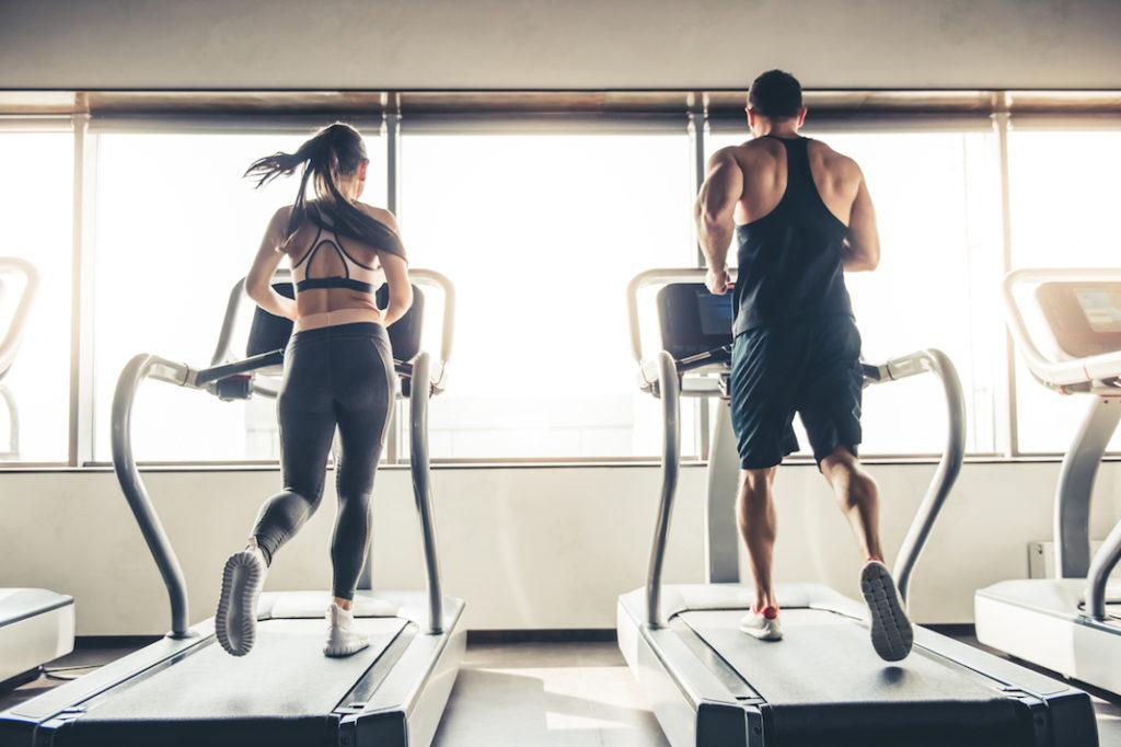 running treadmill gym