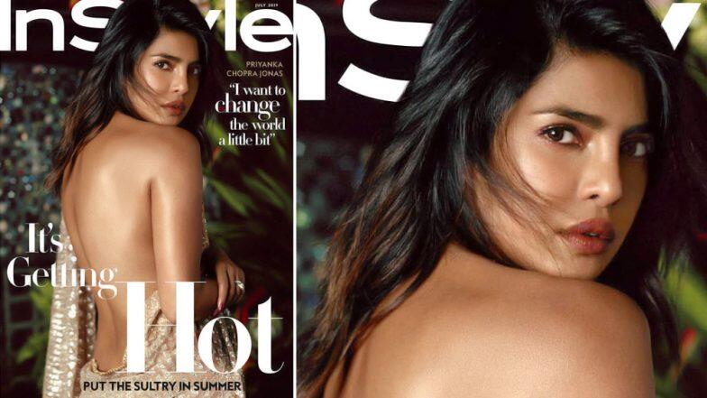 Priyanka Chopra's Sultry Backless Saree Look on InStyle Magazine Cover Will Make You Scream 'Ain't Nobody Like My Desi Girl!'