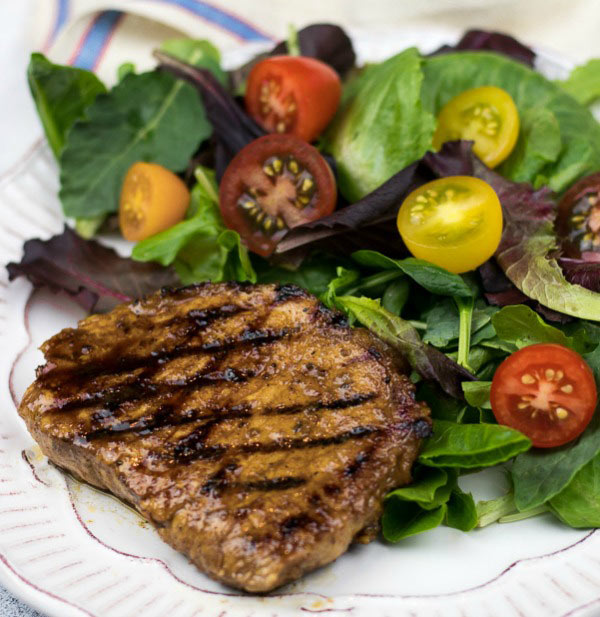 High protein low carb easy spiced pork chops
