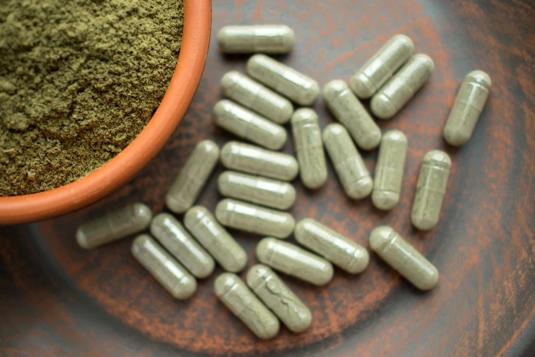 Kratom powder and capsules