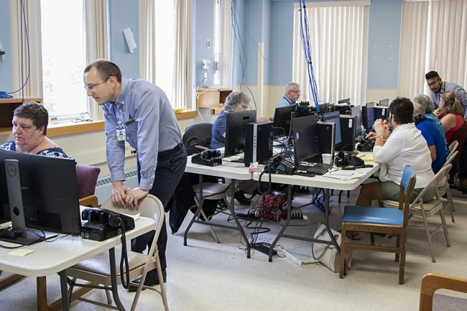 """War room"" for Epic implementation at Mohawk Valley Health System."