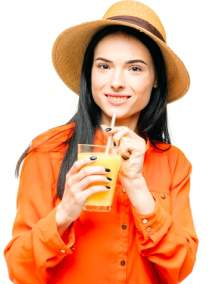 woman-drinks-fresh-juice-fruit