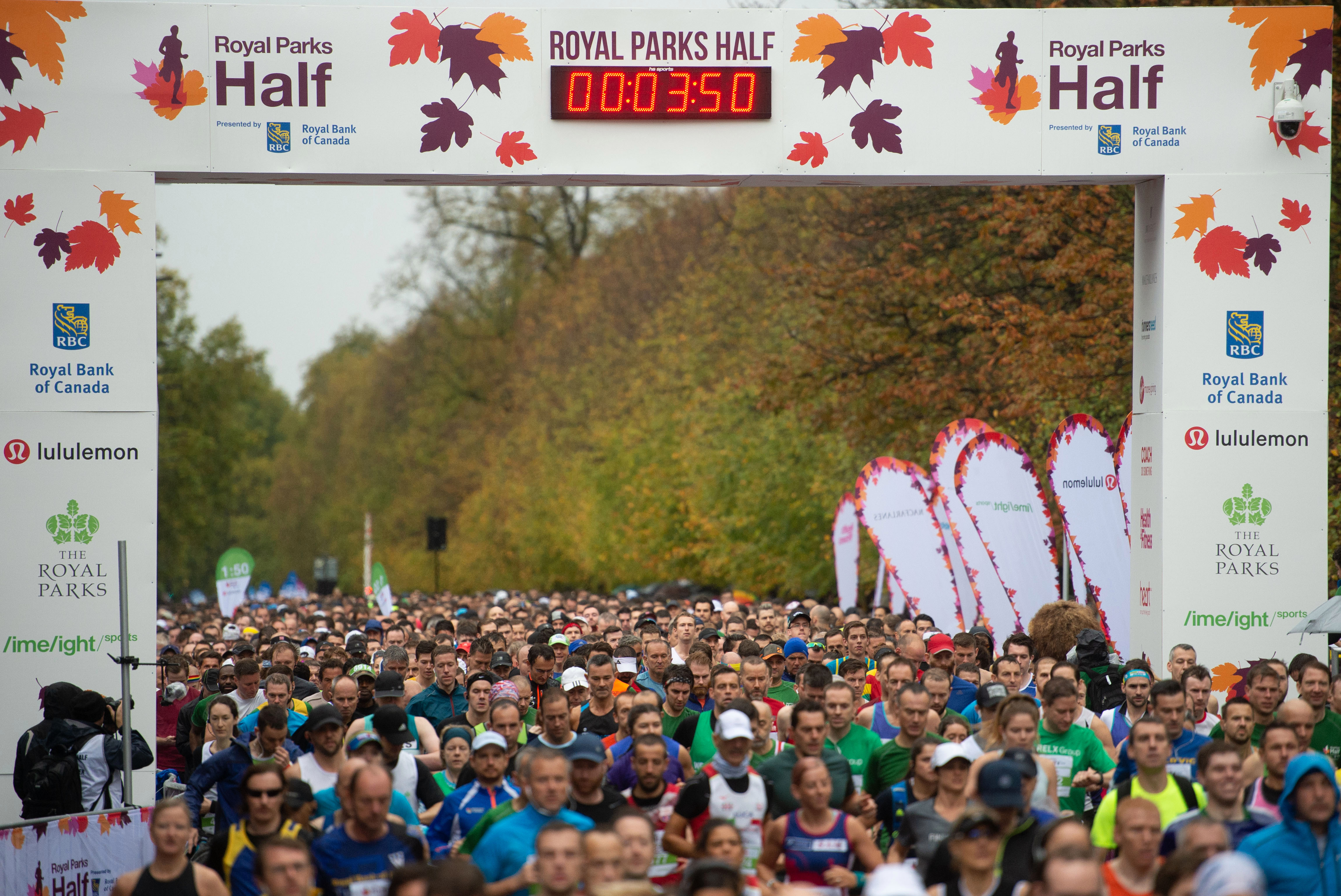 Rory recommends signing up for a challenge like the Royal Parks Half Marathon (pictured)