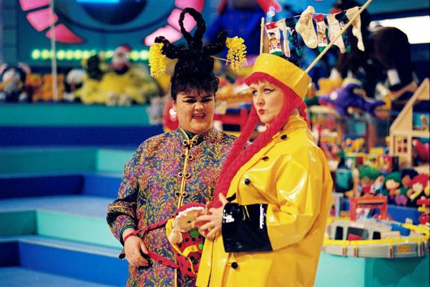 June Rodgers and Eileen Reid on 'Late Late' toy show (1995)