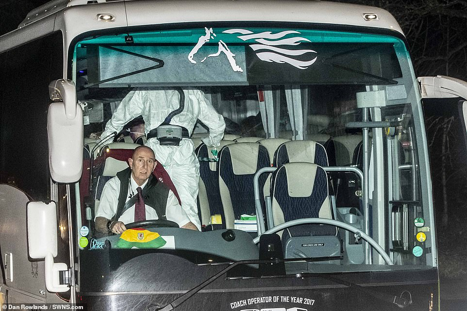 Bus drivers and passengers are still without facemasks, despite the infection being highly contagious. Although it is not confirmed any of the evacuees have the virus