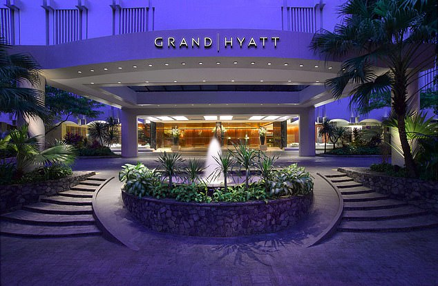 After returning from a trip to Singapore, where he stayed at the Grand Hyatt (pictured), the British man took himself to hospital with coronavirus symptoms. Health officials are not believed to be 'contact tracing' people on any Asia-UK flight he may have travelled on