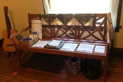 memory bench with piles for each day