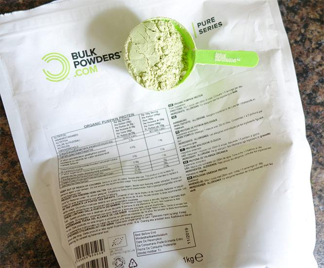 Bulk Powders organic pumpkin protein