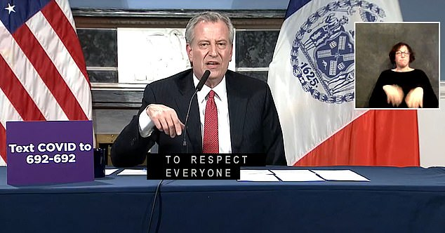 Mayor Bill de Blasio warned that New Yorkers should now cover their mouth and and nose if they leave their homes after new evidence suggests that asymptotic carriers may be leading to more spread of the coronavirus in the community than was previously thought