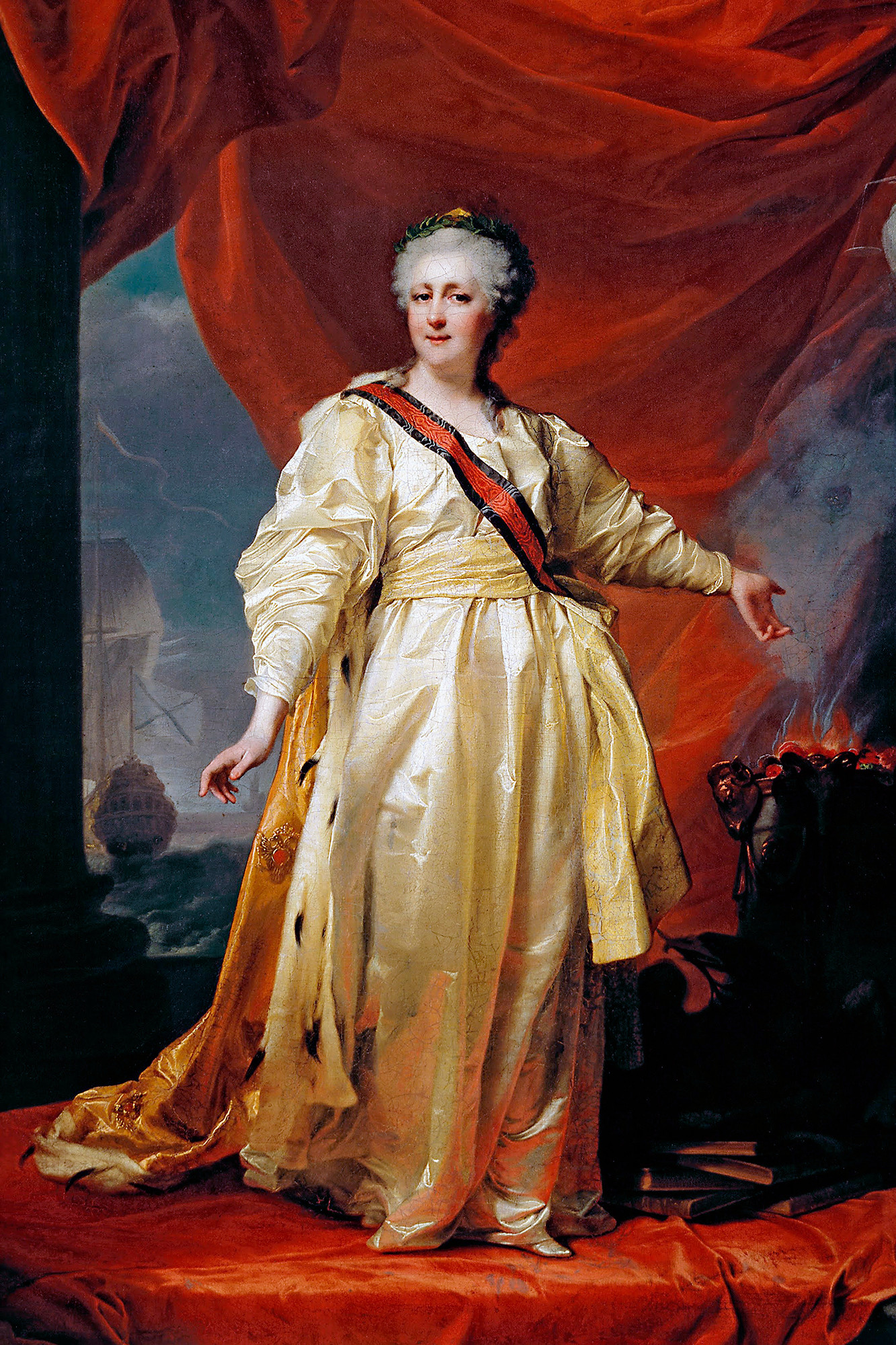 Portrait of Catherine II the Legislatress in the Temple Devoted to the Godess of Justice by Dmitry Levitzky